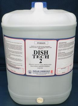 Dish Tech 2 Heavy Duty Chlorinated Machine Dishwashing Liquid 20 Litres