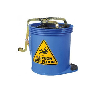 Blue Wringer Mop Bucket 16 Litres with Metal Mechanism