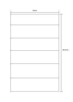 Unfolded Sheet Size: 24cm x 36.5cm
