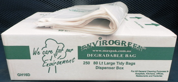 Envirogreen 80 Litres Clear Tidy Bags