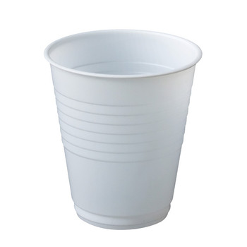 MaxValu White Plastic Water Cups 180ml 20 packs of 50 cups