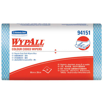 Wypall Blue Regular Duty 12 Packs x 20 Wipers