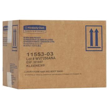 KLEENEX Luxury Foam Hair and Body Wash 6 x 1L (11553) packaging