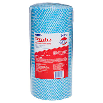 WYPALL Colour Coded Regular Duty Wipers 6 Rolls Blue (94152)