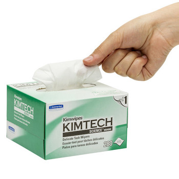 KIMTECH SCIENCE KIMWIPES Delicate Task Wipers (34120) in use