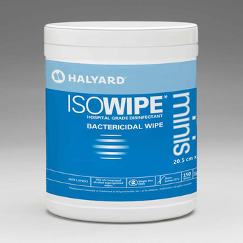 Halyard ISOWIPE Bactericidal Wipes Minis 12 Canisters (6837)