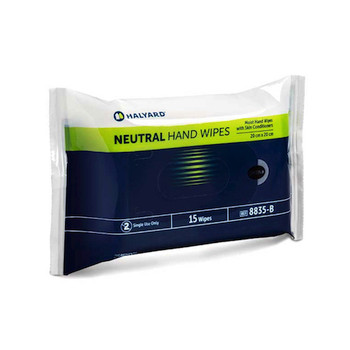 Halyard Neutral Hand Wipes 40 Packs x 15 Wipes (8835)