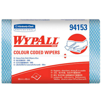 WYPALL Colour Coded Heavy Duty Wipers 12 Packs x 20 Wipers (94153)