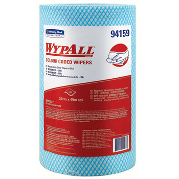 WYPALL Colour Coded Heavy Duty Wipers 4 Rolls x 107 Sheets (94159)