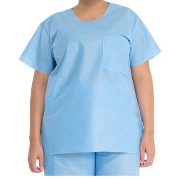 Halyard Scrub Shirts Box of 48 (Medium, Large, X-Large)