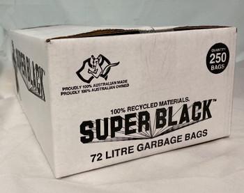 Super Tough Super Black 72L Garbage Bag 250 Bags (BL72SB)