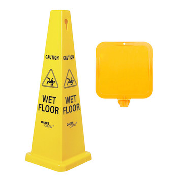 Caution Wet Floor Medium Cone Sign | Safety Signs