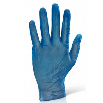 Blue Vinyl Powdered Disposable Gloves 10 Packs x 100 Gloves SMALL
