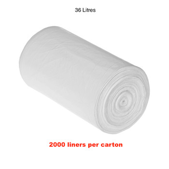 Florin 36 Litres Bin Liners White QTY 2000 Bags (FL36WLBL)