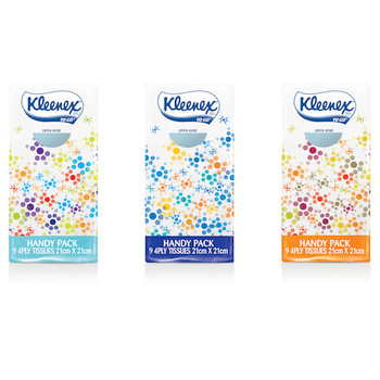 Kleenex Pocket Pack Facial Tissue 4Ply 144/ctn (0201)