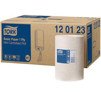 Tork Basic Paper 1ply Mini Centerfeed Roll (120123) case