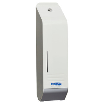 Kimberly Clark White Metal Interleaved Toilet Tissue Dispenser (4404)