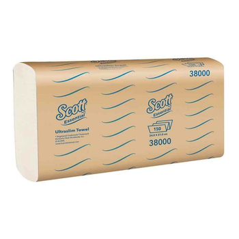 Scott Essential Ultraslim Towel 16 Packs x 150 Towels (38000)