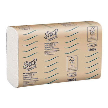 Scott Essential Multifold Towel 16 Packs x 250 Towels (38002)