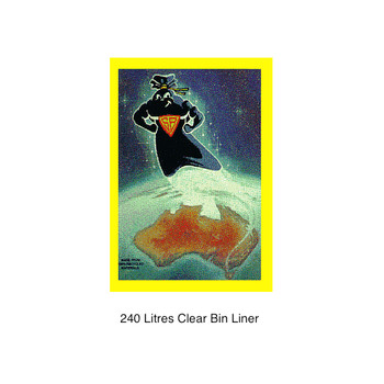 Super Tough 240L Clear Bin Liners 100 Bags (SB240LC)