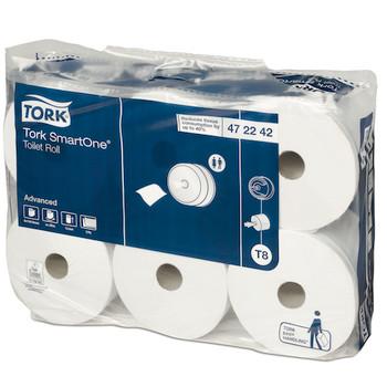 Tork SmartOne Toilet Roll 2Ply T8 System 6 Rolls (472242) Tork Products