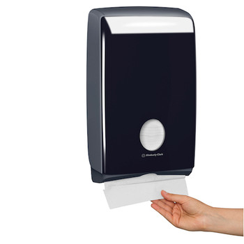 Kimberly Clark Compact Hand Towel Dispenser Black (70007)