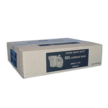 Florin Premium Heavy Duty 80L Garbage Bag 200/ctn (FL80BL)