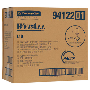 Wypall L10 Heavy Duty Perforated Centrefeed Wipers 300 Metres (94122)