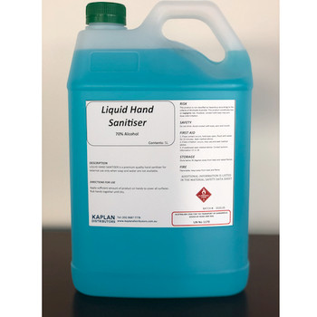 Antibacterial Liquid Hand Sanitiser 5 L 70% Alcohol