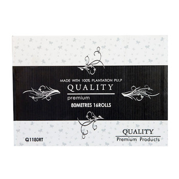 Quality Premium Hand Towel Roll 80 Metres x 16 Rolls (Q1180RT)