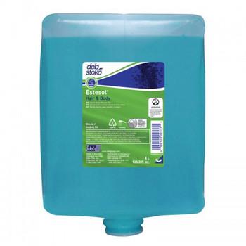 DEB Estesol Hair & Body Shower Gel Blue 4 Cartridges (HAB4L)