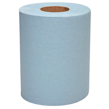 WYPALL® L10 Service & Retail Wiping Paper (6220), 1 Ply Centrefeed Reinforced Blue Wipers, 6 Centrefeed Rolls / Case, 280 Paper Wipers / Roll (1,680 Wipers)