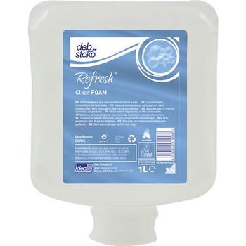 Deb Stoko Refresh Clear Foam Hand Wash 6 x 1 Litre (CLR1L)