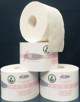 Green Florin Jumbo Junior 2 Ply 115 Metres x 18 Rolls (GTR115) Florin Products