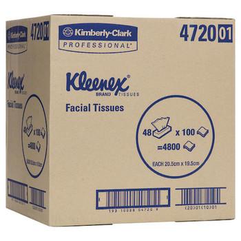 Kleenex 4720 2 PLY Executive Facial Tissues 100 Sheets x 48 Packs