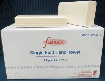 Florin Single Fold Hand Towel 24 Packs x 150 Towels (HT155FL) Florin Products