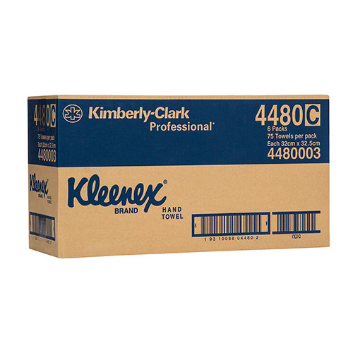 Kleenex Premium Hand Towels 6 Packs x 75 Sheets (4480)