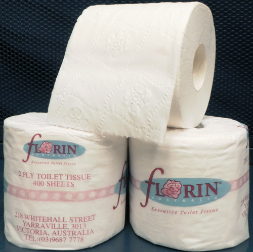 Florin Toilet Roll 2 Ply 400 Sheets x 48 Rolls (FLTR400) Florin Products