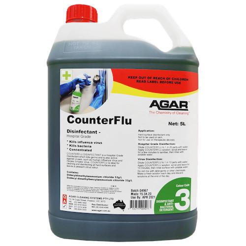 CounterFlu Hospital Grade Disinfectant 5 Litres Kills COVID19 (COUF5)