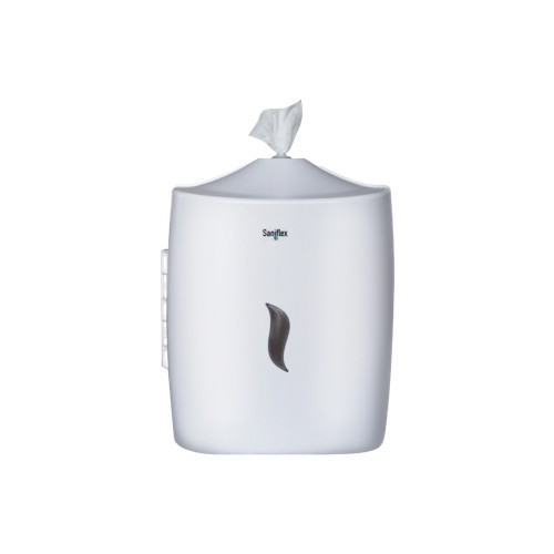 ABS PLASTIC WALL MOUNTED WIPE DISPENSER 800 SERIES WHITE