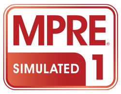 Simulated MPRE 1 logo in red