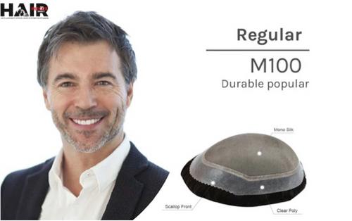 "Mens Toupee M100 6.5""x 8.5"" Mono Top In Stock"