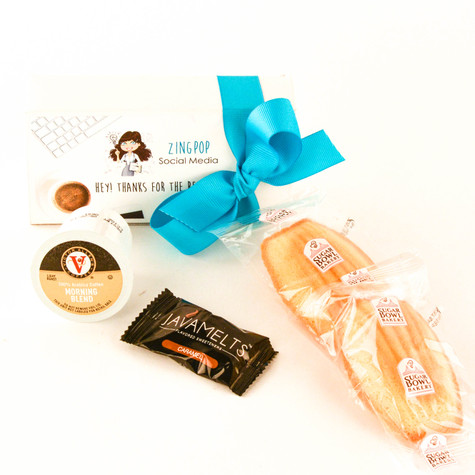 Coffee & Cookies White Box (Personalized), Set of 12, $8.95 each