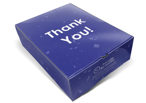 A custom Thank You Box for Mt Rainier donatees.