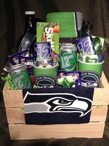 Seattle Seahawks Large Beer Crate