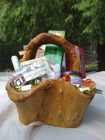 Root Wood Basket