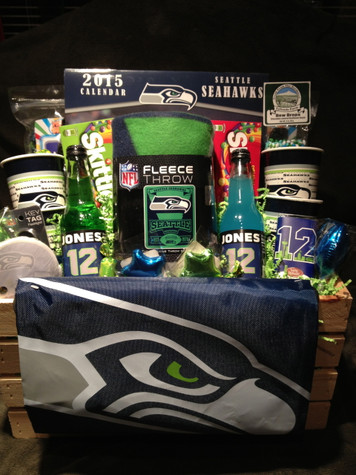 Seattle Seahawks Fleece Throw and Game Day Snacks