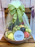 Fresh fruit, nuts and/or dried fruit makes up this beautiful gift