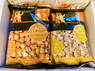 The middle layer of the box.  2 varieties of Harvey's Gourmet Popcorn