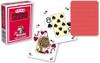 Poker, 4-Corner Mini-Index, 100% Plastic, Red Back
